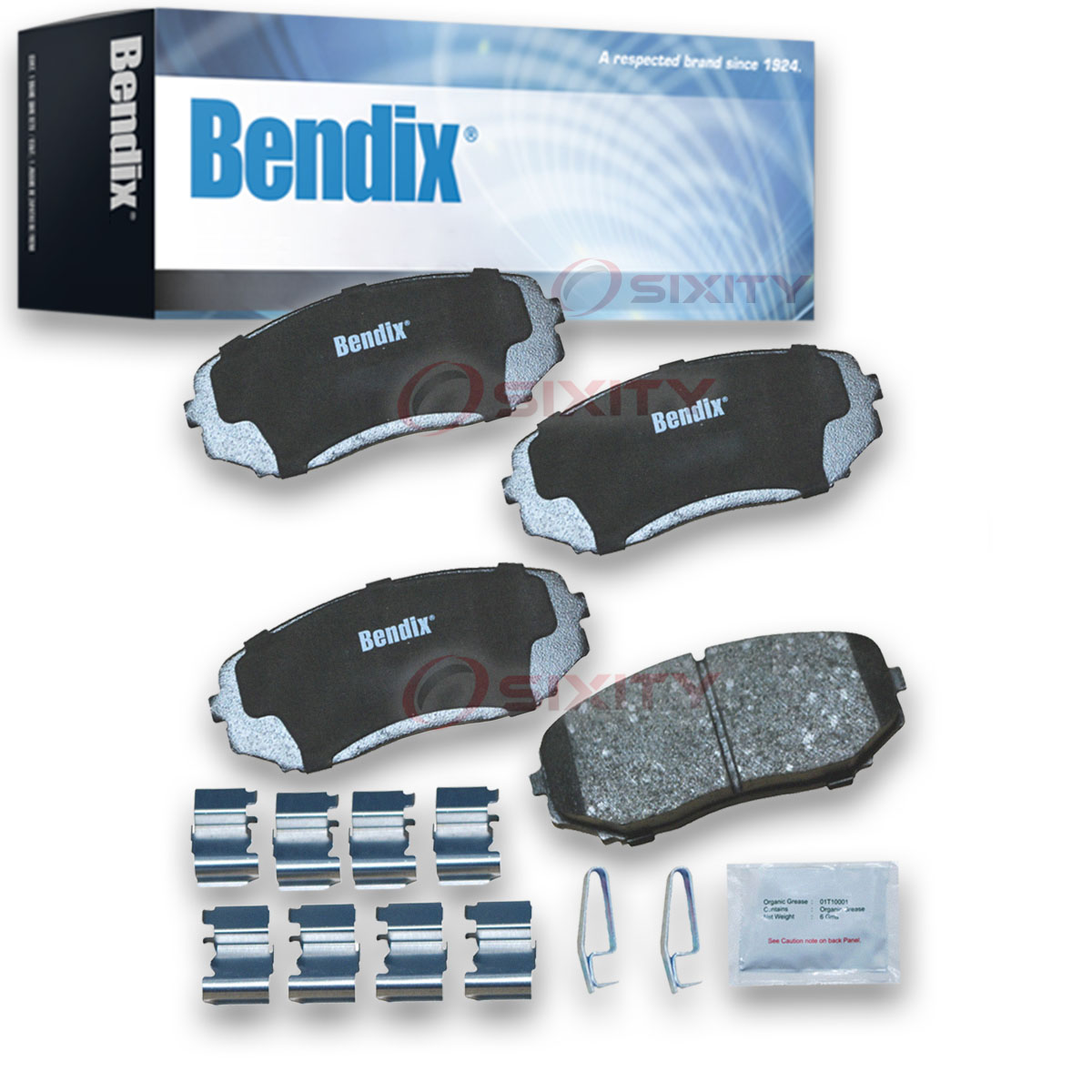 with Installation Hardware Rear Bendix Premium Copper Free CFC536 Premium Copper Free Ceramic Brake Pad