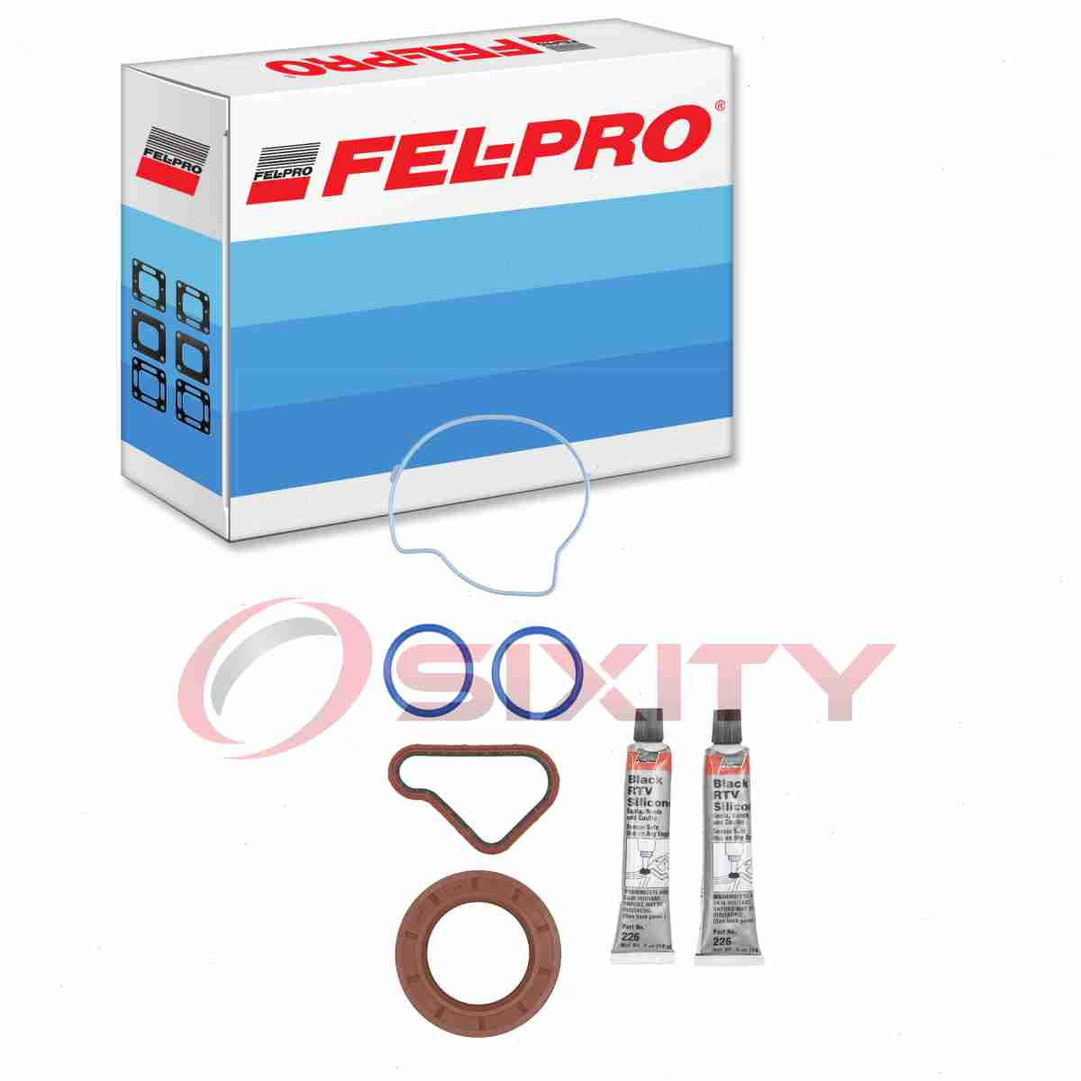 Engine Sealing vt Fel-Pro TCS 46022 Timing Cover Gasket Set FelPro TCS46022